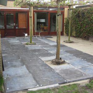 Bestrating achtertuin in Breda