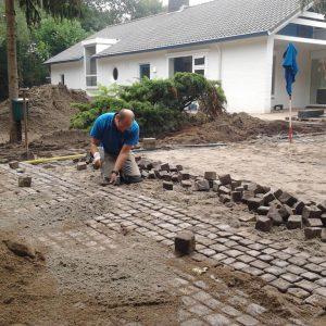 Bestrating voortuin in Prinsenbeek