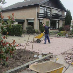 Straatwerk in tuin Etten-Leur